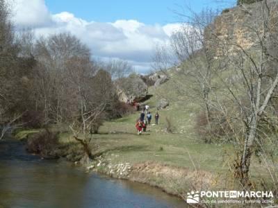 Senderismo Segovia - Riberas de los ríos Pirón y Viejo; río piedra; fotos de la pedriza